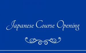 Japanese Course Opening