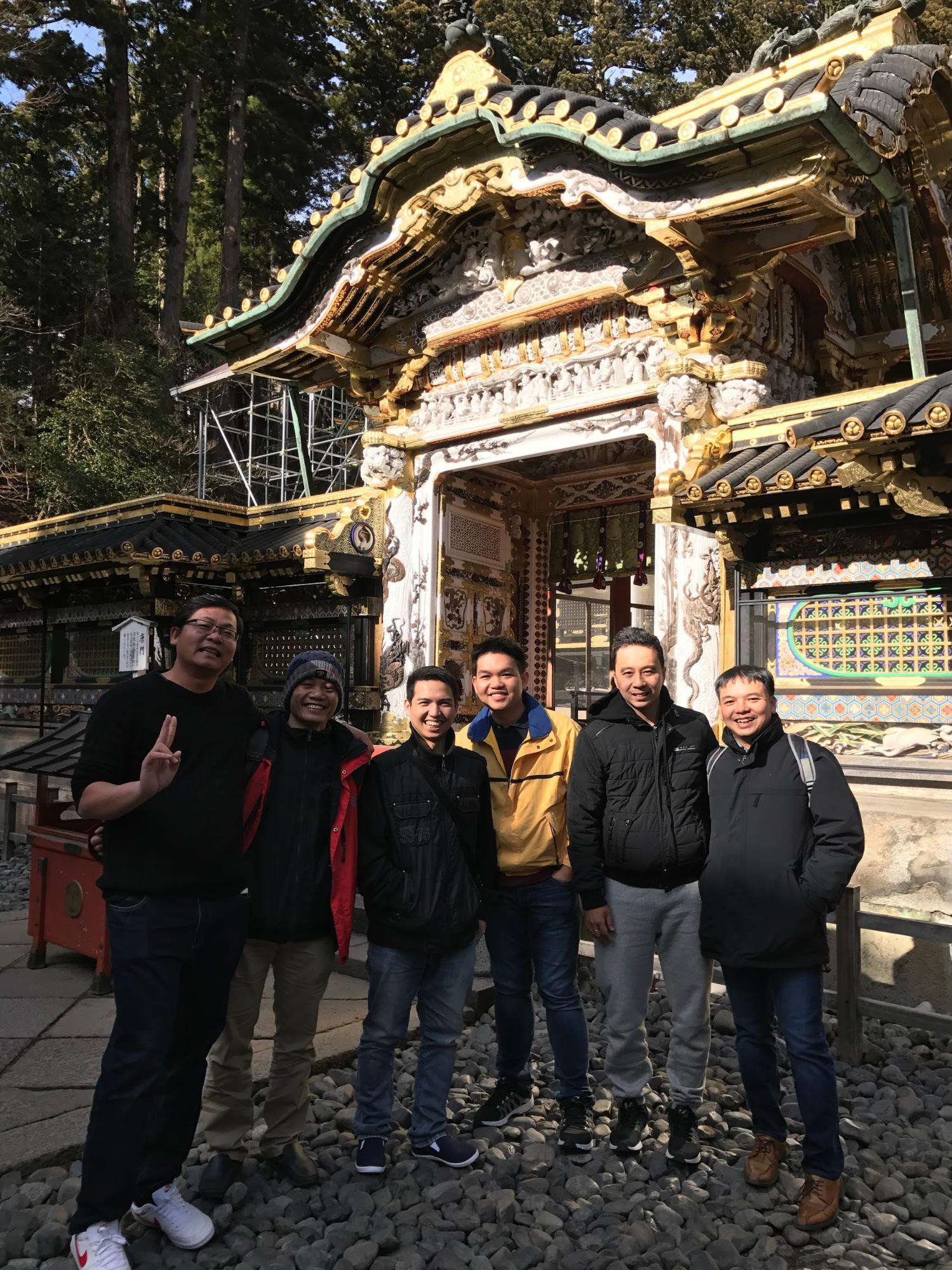 Visiting the complex temple Toshogu, Nikko. The temple was built in 1617.