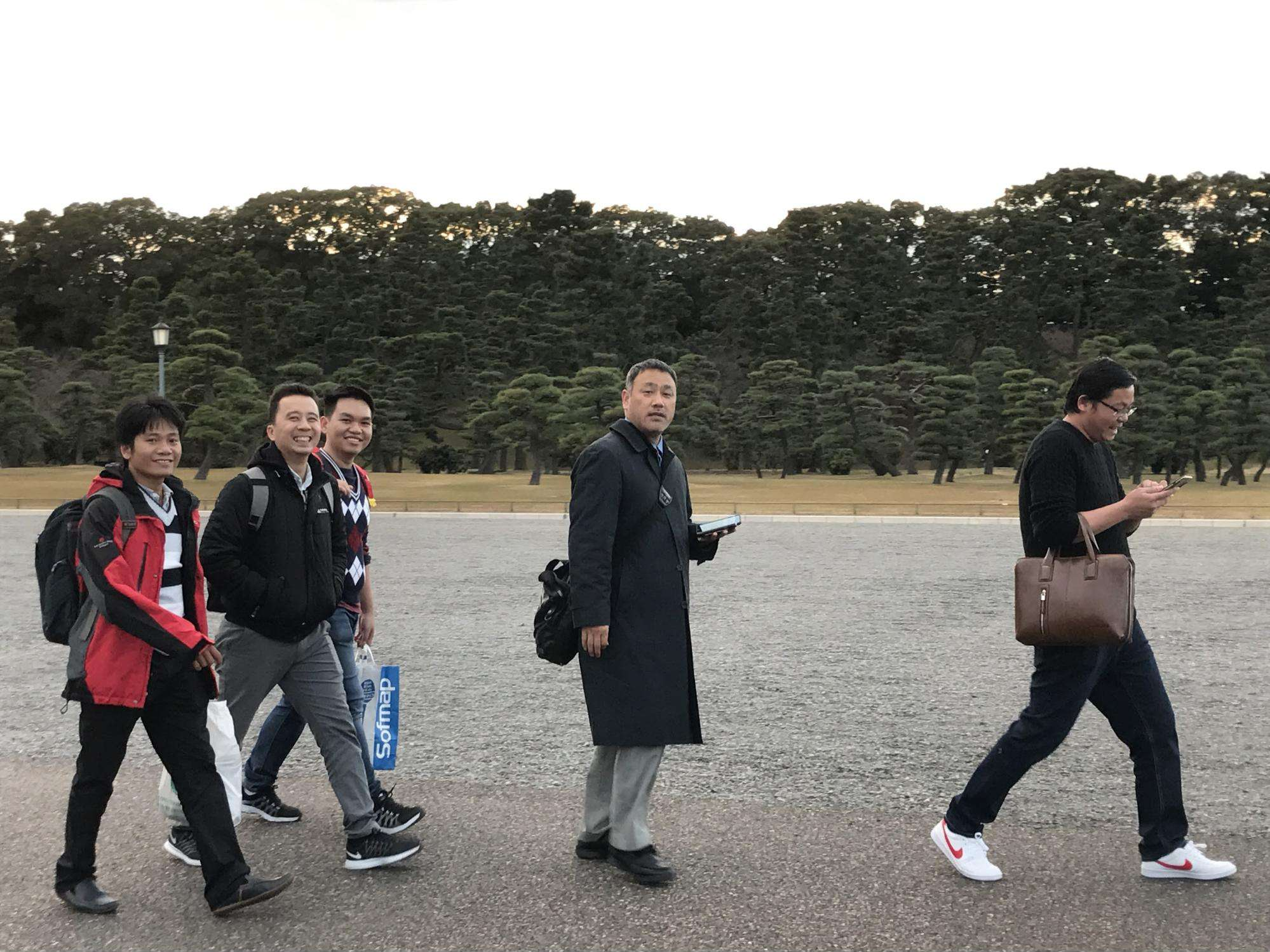 At The Imperial Palace.