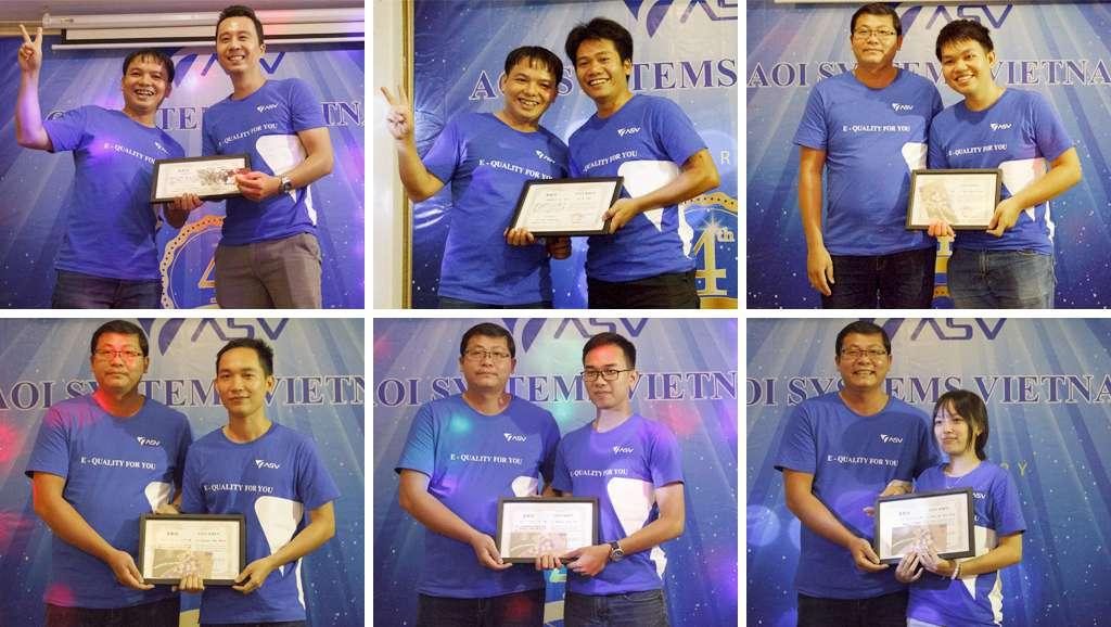 Trao giải thưởng và bằng khen cho team và nhân viên có thành tích xuất sắc.